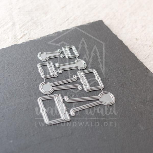 Wire Clips | Original Stanzformen von watt&wald zum Ausstanzen aus Papier.