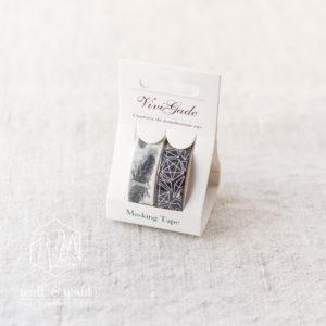 Masking Tape Federn | 2er Set | je 4 Meter | weiß, schwarz, silber | 15mm breit | aus Reispapier