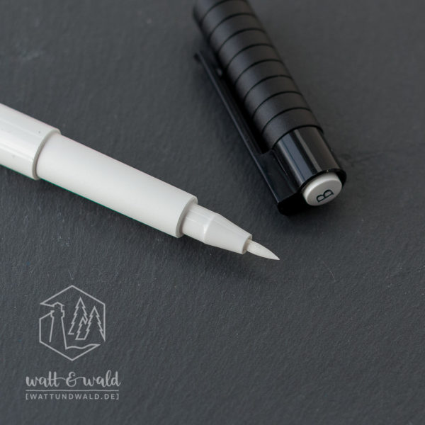 Faber-Castell Pitt Artist Pen brush [weiß] | Detailansicht der Pinselspitze