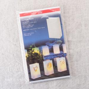 Lichttüte Basic [groß] | 26,5 x 15,5 x 9 cm | naturweiß