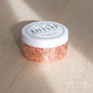 nuvo Gilding Flakes | Sunkissed Copper | Tonic Studios | kupferfarbene Flocken aus Blattmetall zum Verzieren