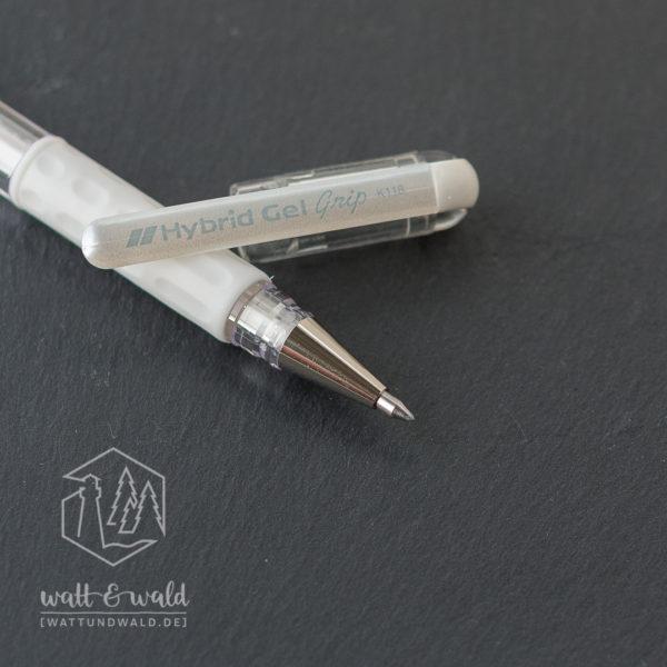 Pentel Hybrid Gel Grip | Gelstift weiß | Detailansicht Spitze