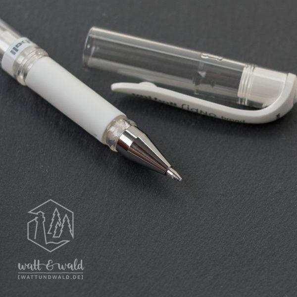 uni-ball Signo broad | Gelstift weiß | Detailansicht Spitze