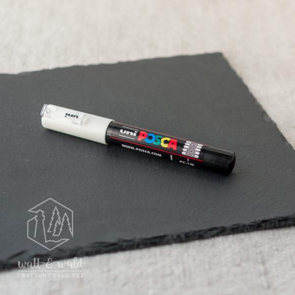 uni POSCA PC-1MC [weiß] | Acrylmarker mit extra feiner Rundspitze