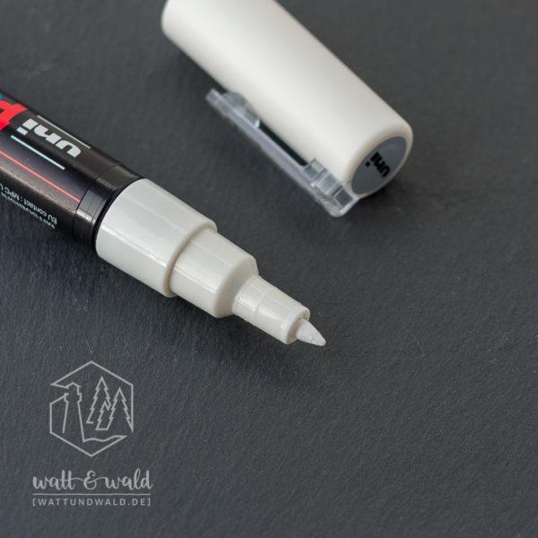 uni POSCA PC-1MC [weiß] | Acrylmarker | Detailansicht Rundspitze