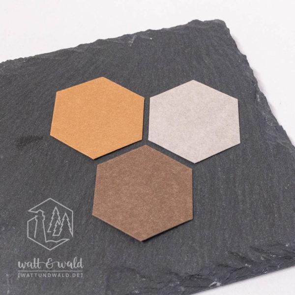Waschpapier Muster braun