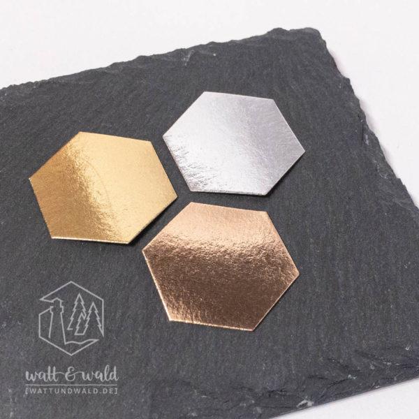 Waschpapier Muster metallic
