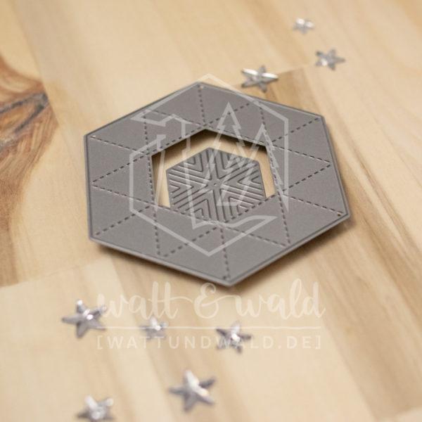 Hexasternbox | Original Stanzformen von watt&wald | zum Ausstanzen aus Papier | für Karten und Scrapbooking