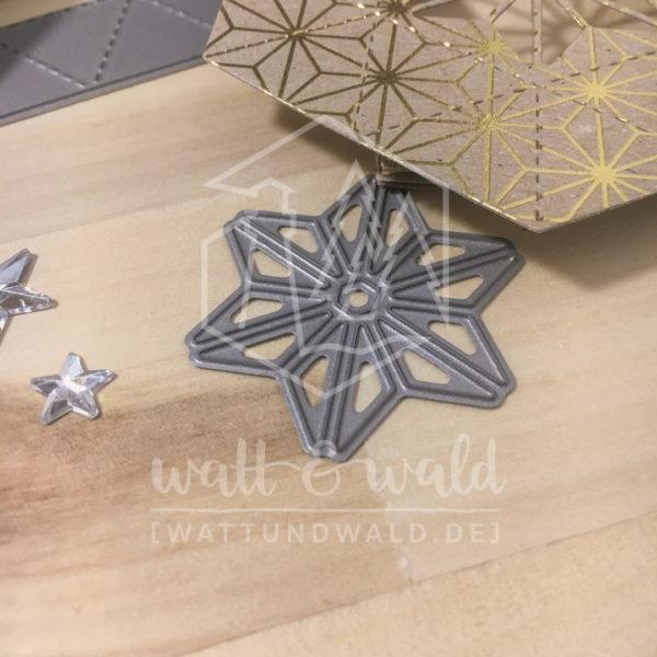 Hexagon Sterne | Original Stanzformen von watt&wald | zum Ausstanzen aus Papier | für Karten und Scrapbooking