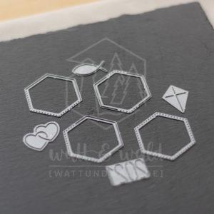 Hexagon Rahmen gepunktet | Original Stanzformen von watt&wald