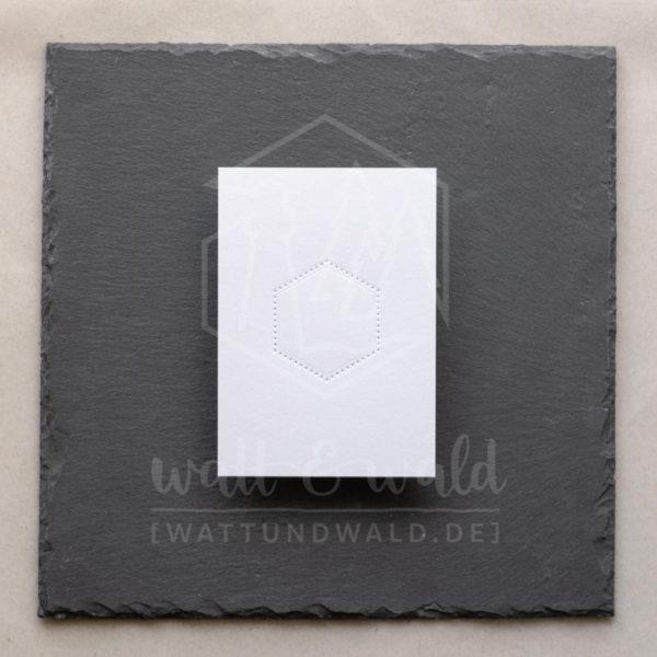 Hexagon Zierrahmen gepunktet | dotted Hexagon | watt&wald Stanze