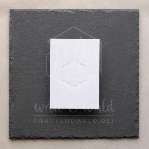 Hexagon-Rahmen für Banderolen gepunktet | watt&wald Stanze