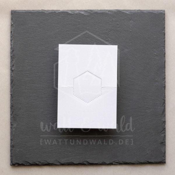 Hexagon-Stanze für Tischkärtchen 1 | watt&wald Stanze