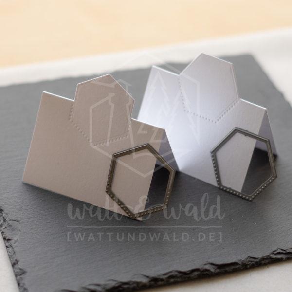 Hexagon-Tischkärtchen 1 und 2 | watt&wald
